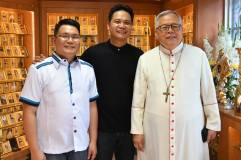 Blessing of the Blessed Ivan Merz Reliquarium with our local Ordinary, HE Most Rev. Francisco De Leon, D.D., bishop of Antipolo. Photo op with Fr. Jeffty Mendez, CP, our parish priest. (March 3, 2018)